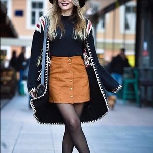 H&M Faux Suede Skirt